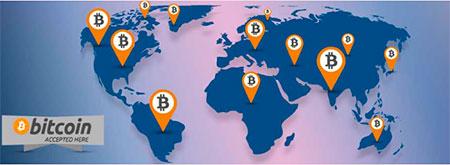 биткоин в мире